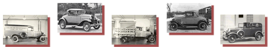 Panel Truck, 1930 Roadster, AA Truck, 1930 Cabriolet, Model A Delivery