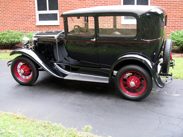 The 1930 Ford Model A Tudor being driven back to the owner's home in North Carolina.
